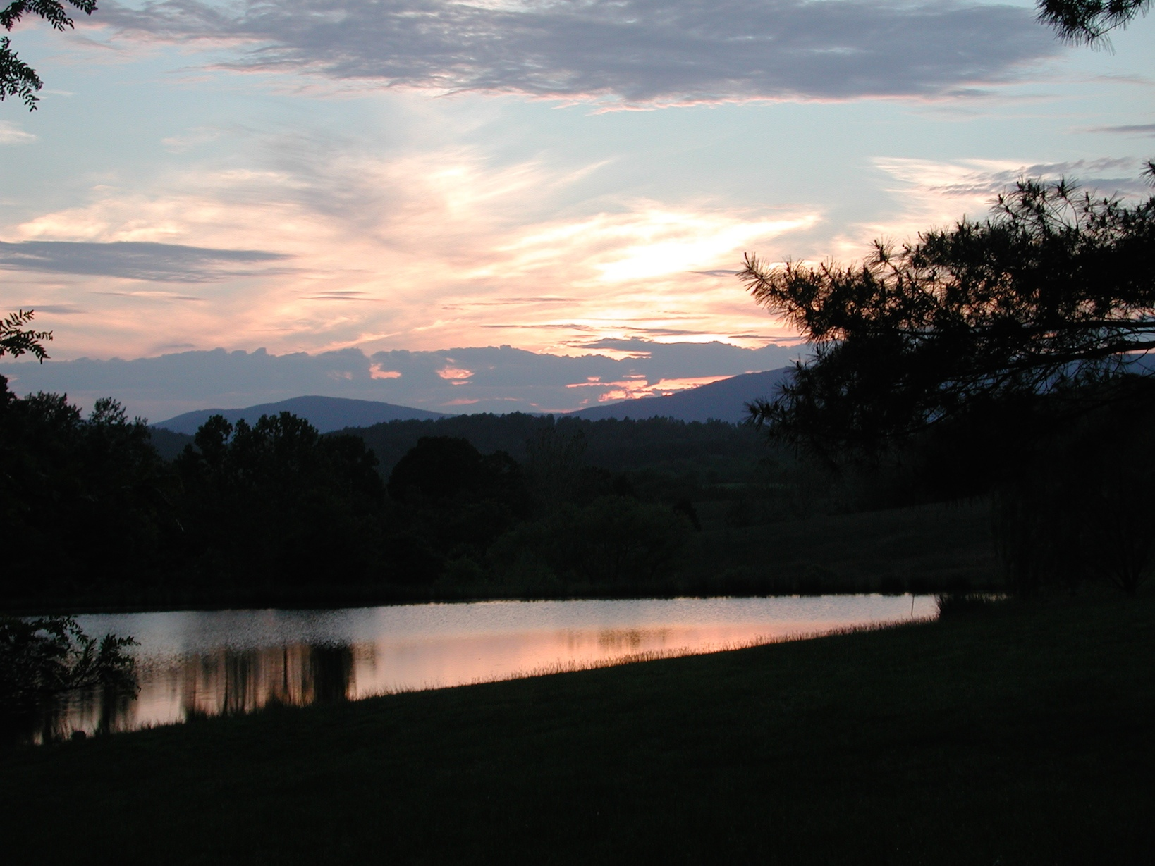 AA Pond at Sunset Verulam Charlottesville Manor House copy