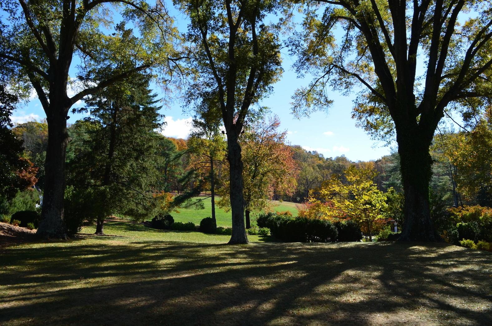 Croquet Lawn Autumn Verulam Charlottesville Wedding
