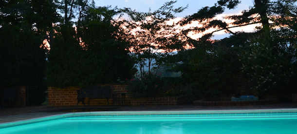 Verulam-Estate-WeddingPool-at-Sunset