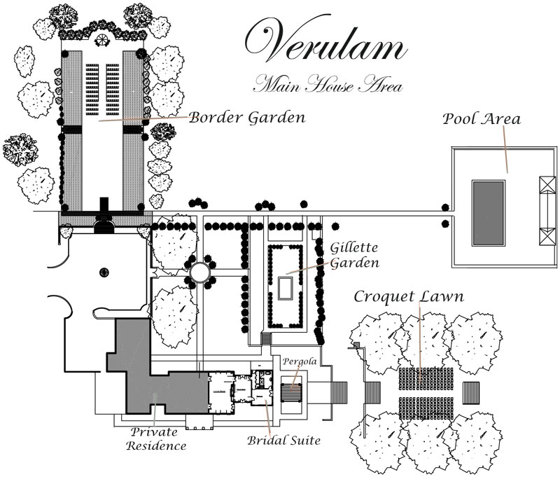 Map of Main House and Garden
