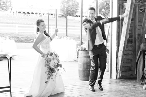 Barn Introductions – bride and groom