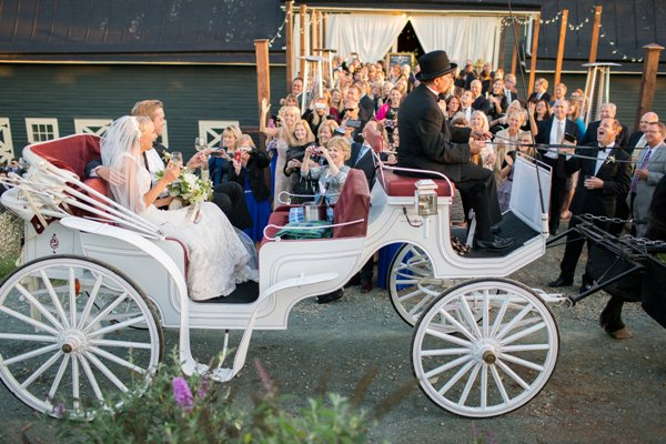 Bride & Groom in carriage 2
