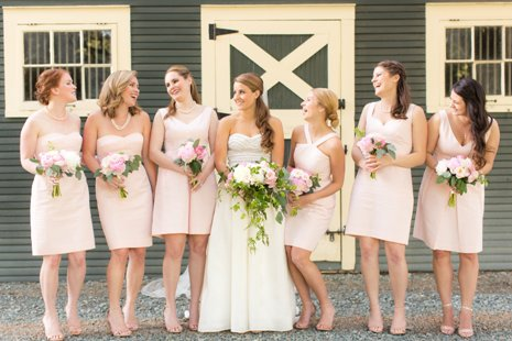 Bridesmaids at Barn