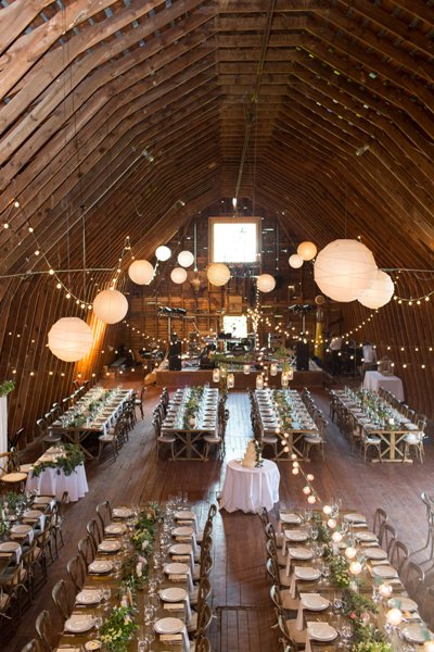 Kristina and Matt's Barn set-up