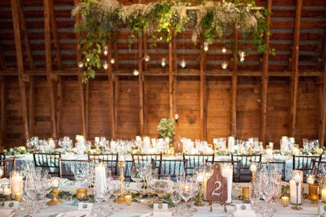 Tables in barn