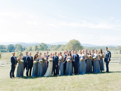 Bridal Party on Front Lawn