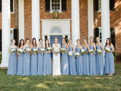 Bridemaids front of house