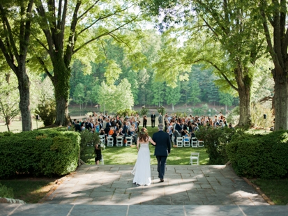 Croquet lawn ceremony