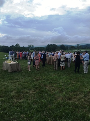 Rehearsal Dinner in the field