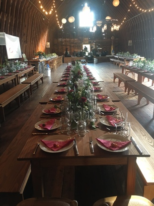 Reherasal Dinner in the barn