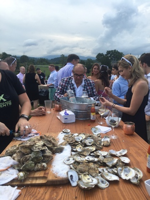 Shucking Oysters at Verulam