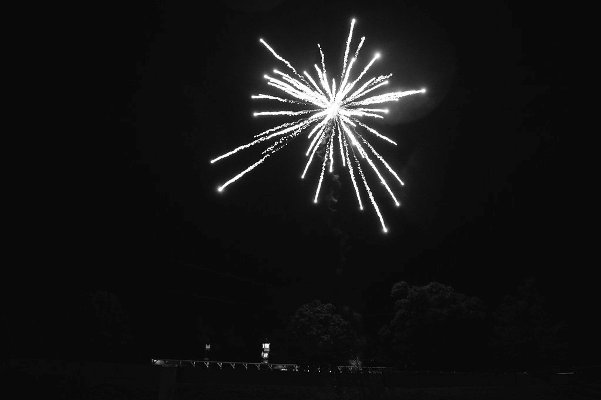 fireworks over Verulam